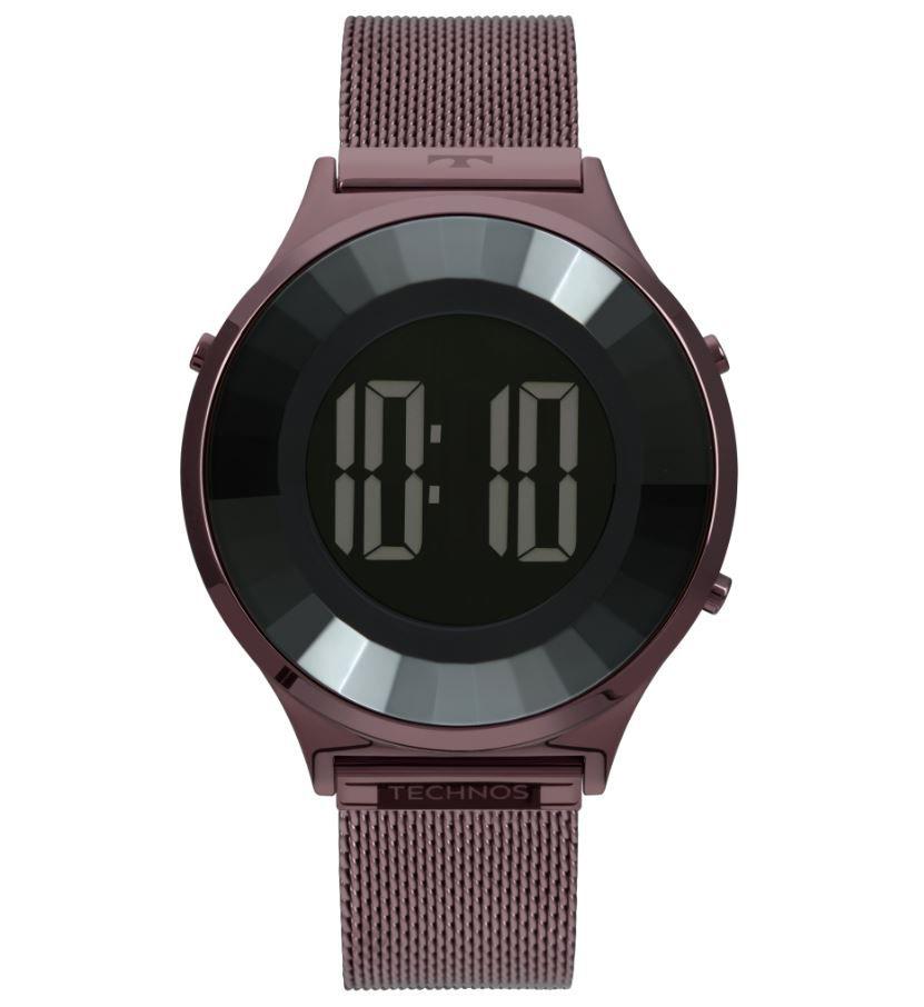 Relógio Technos Digital Crystal Roxo Feminino BJ3851AI/4P