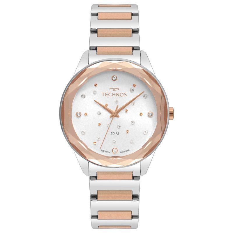Relógio Technos Elegance Crystal Swarovski Feminino 2036MKI/4C