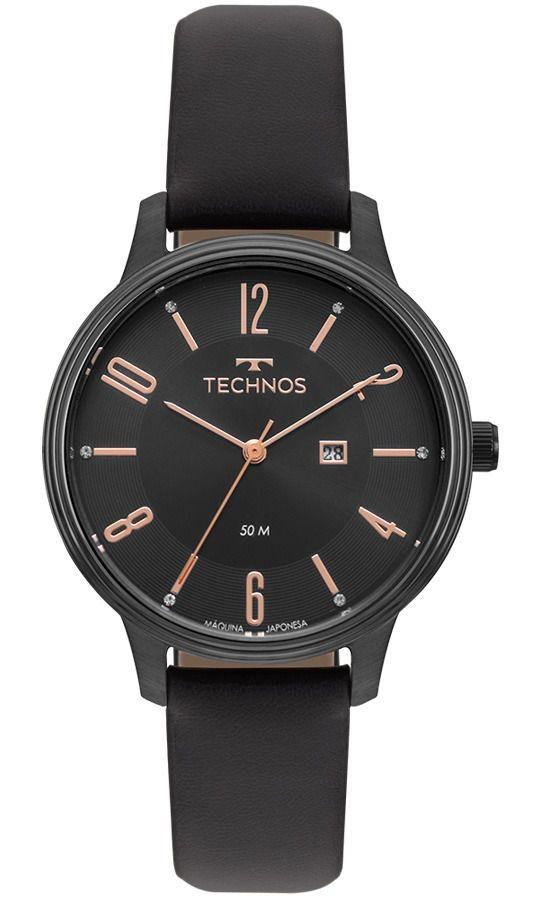 Relógio Technos  Elegance Dress Couro Feminino 2015CCK/2P
