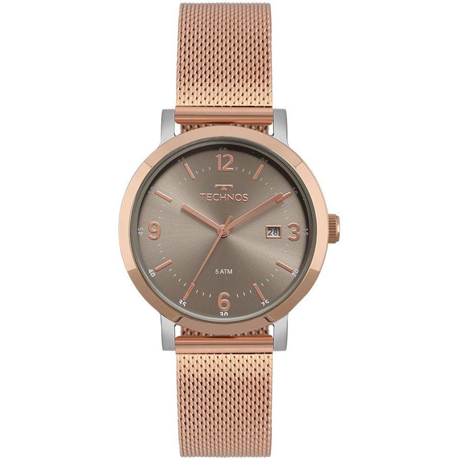 323a2d977a0 Relógio Technos Elegance Dress Rose Feminino 2115MPF 4C - Relógios ...