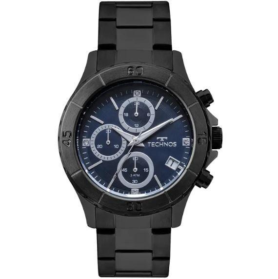4327bd296fd6e Relógio Technos Elegance Ladies Preto Feminino JS15FL 4A - Relógios ...
