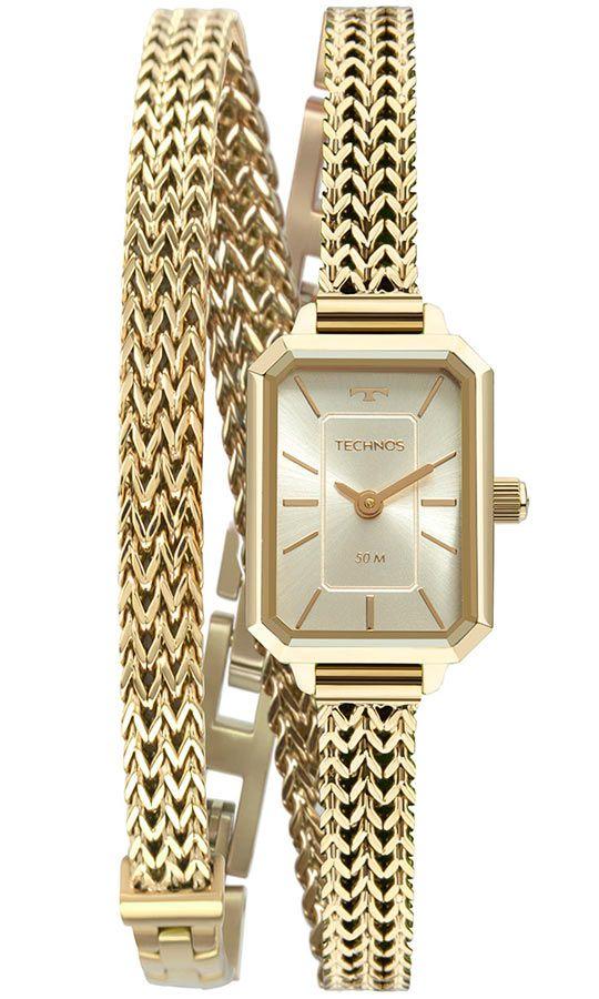 Relógio Technos Elegance Mini Dourado Feminino 5Y20IV/1X
