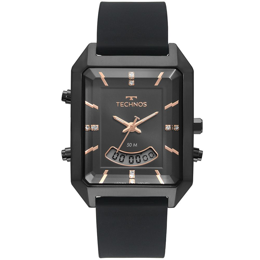 Relógio Technos Elegance Trend AnaDigi Preto Feminino T200AI/2P