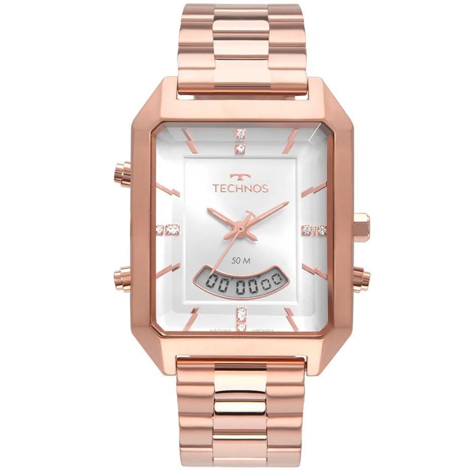 Relógio Technos Elegance Trend AnaDigi Rose Feminino T200AH/4K