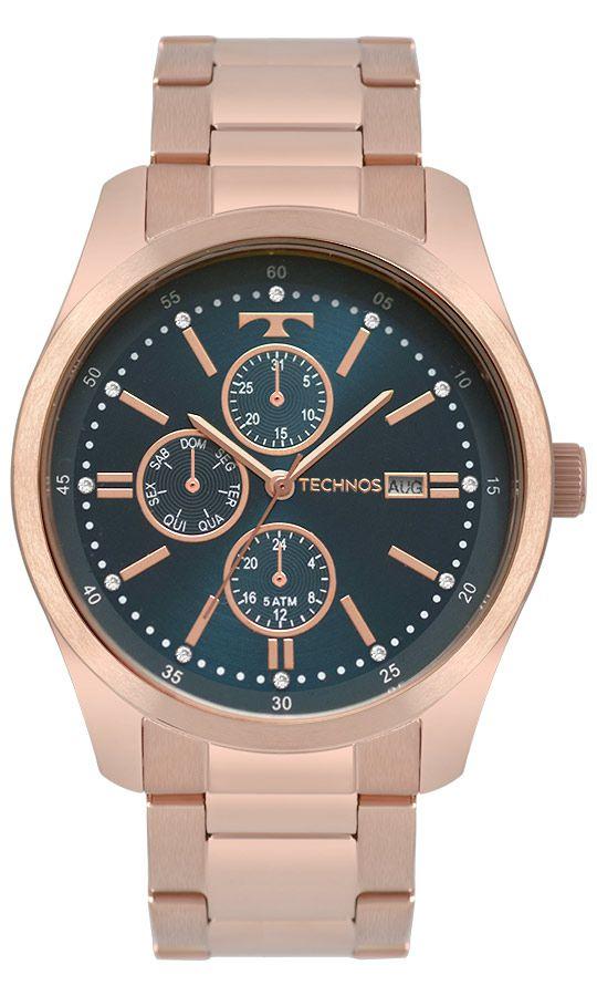 1145077f00ce0 Relógio Technos Fashion Trend Multifunção Rose Feminino 6P89IA 4J ...