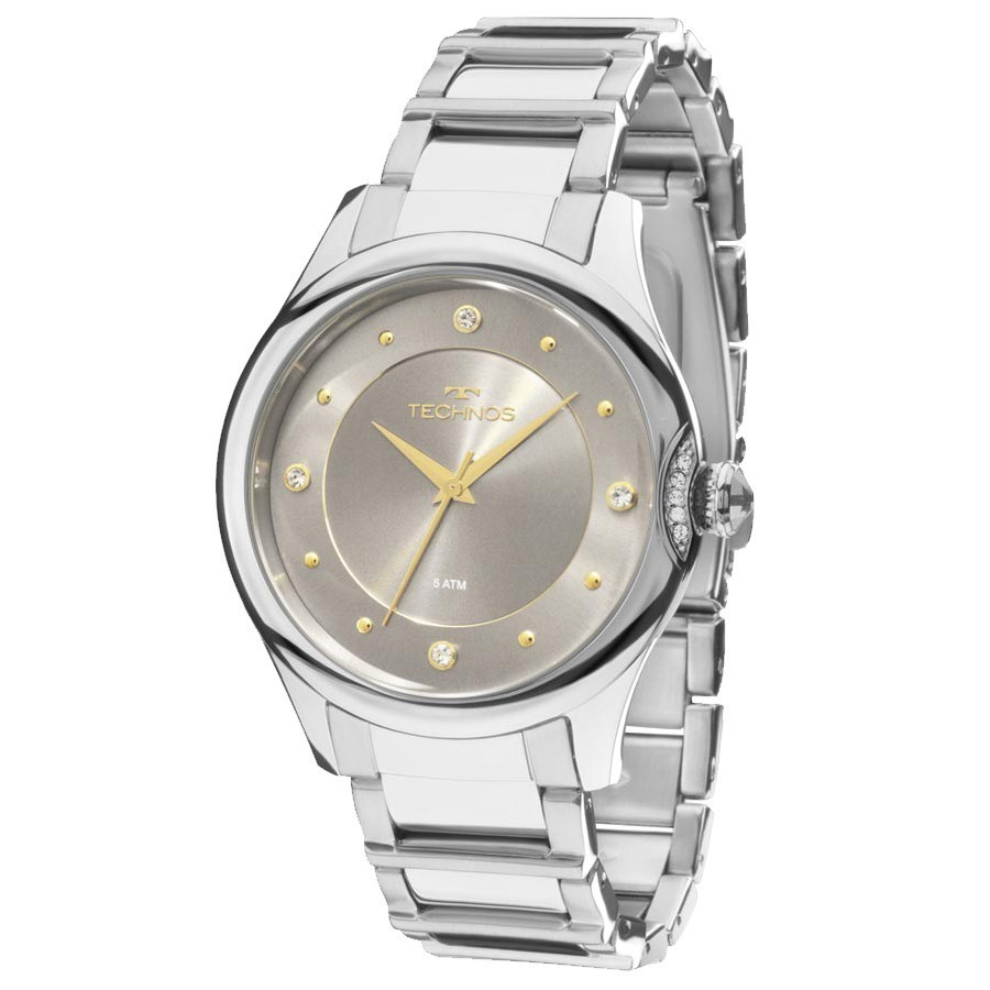 240abce384d Relógio Technos Feminino Elegance Crystal 2035MFS 3C - Relógios de ...