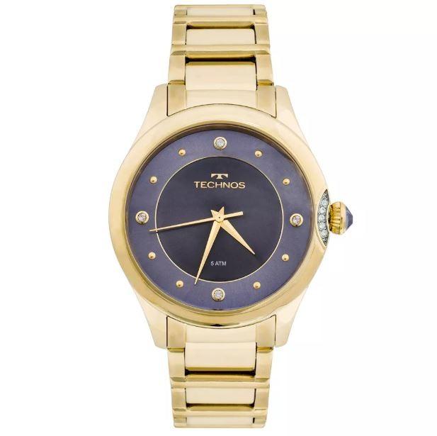 Relógio Technos Feminino Elegance Crystal Swarovski 2035MFR/4A