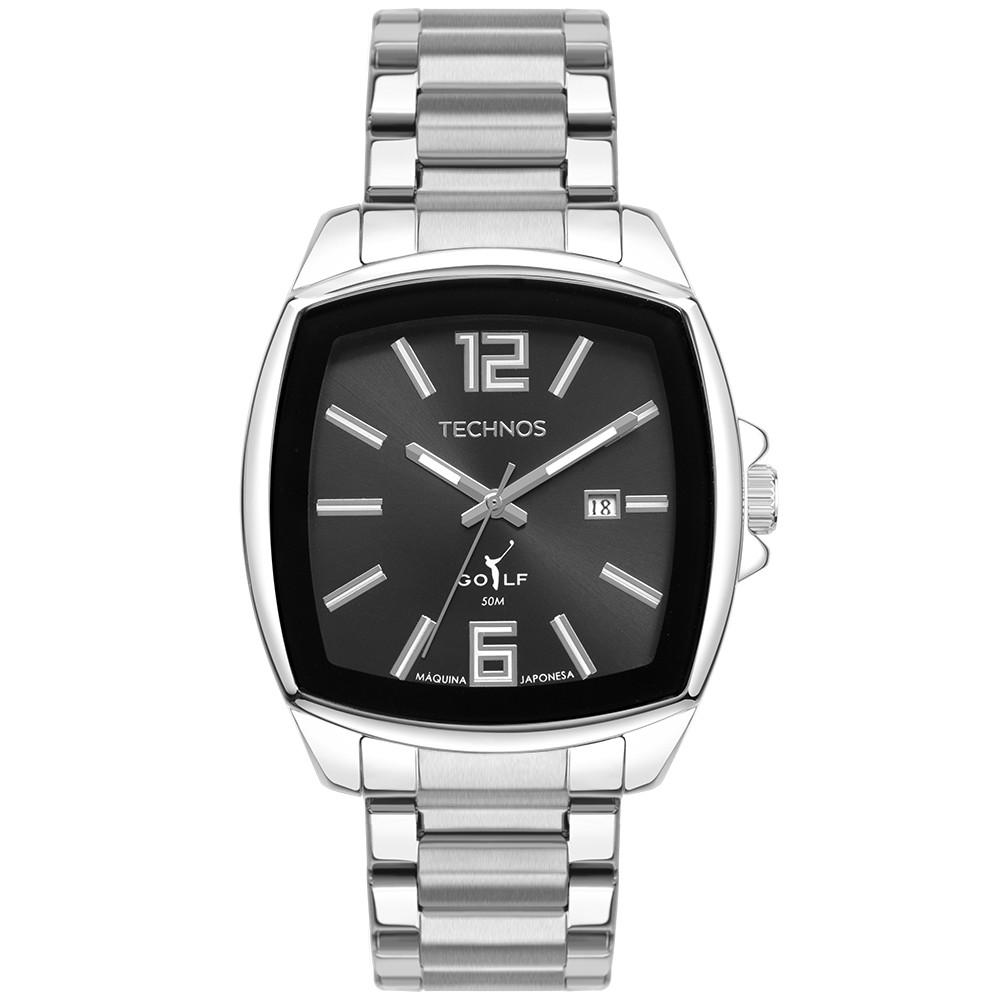 Relógio Technos Golf Prata Masculino 2115MWT/1P