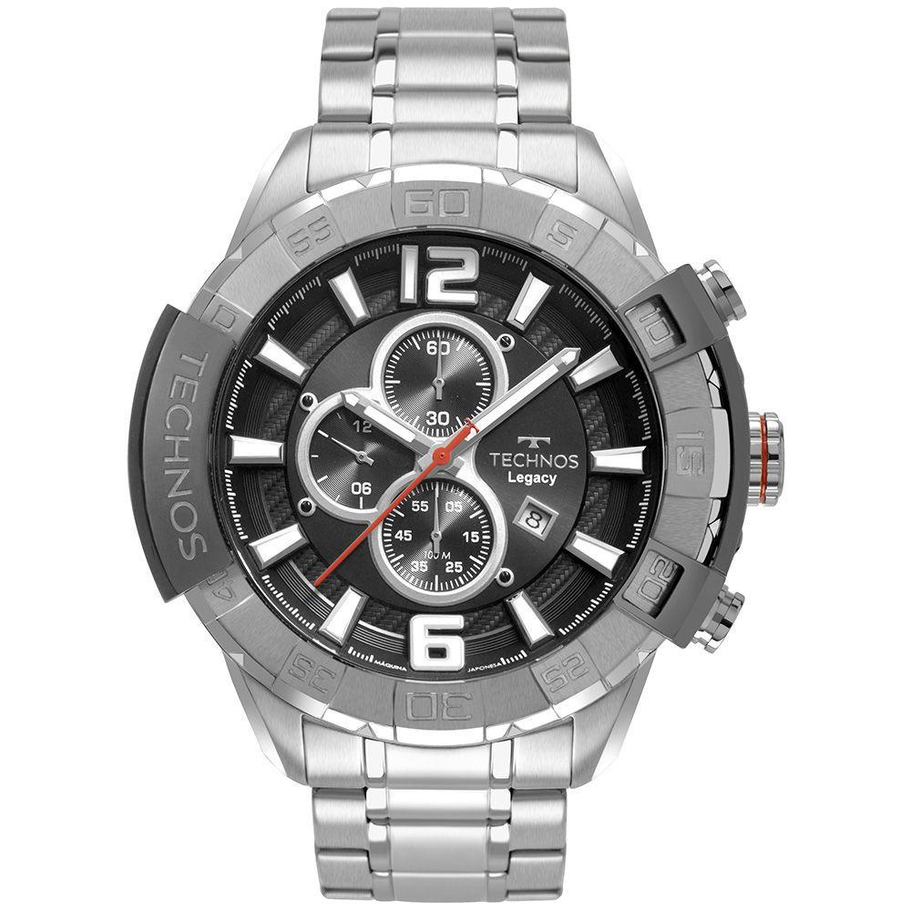 Relógio Technos Legacy Prata Masculino OS10FD/1C