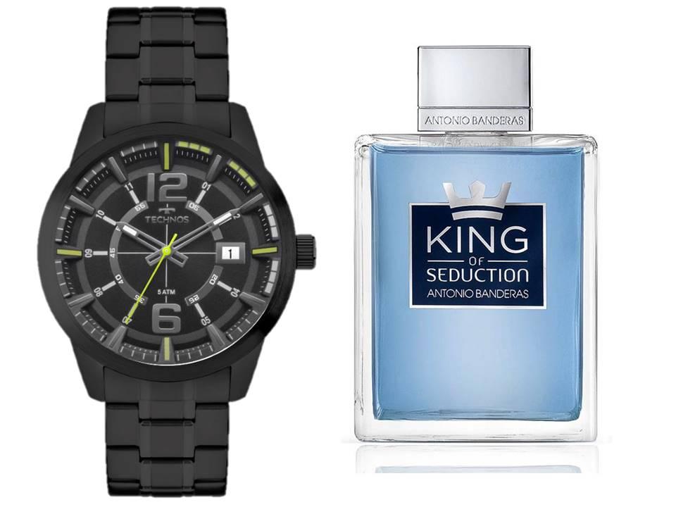 Relógio Technos Masculino 2315KZV/4P + King Of Seduction 200 ML