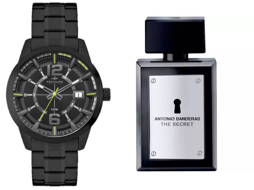 Relógio Technos Masculino 2315KZV/4P + Antonio Banderas The Secret 100 ML
