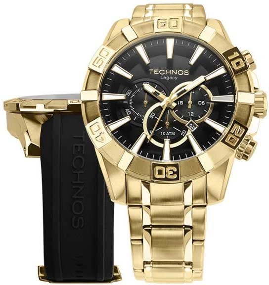 Relógio Technos Masculino Classic Legacy Troca Pulseiras OS2AAJAC/4P