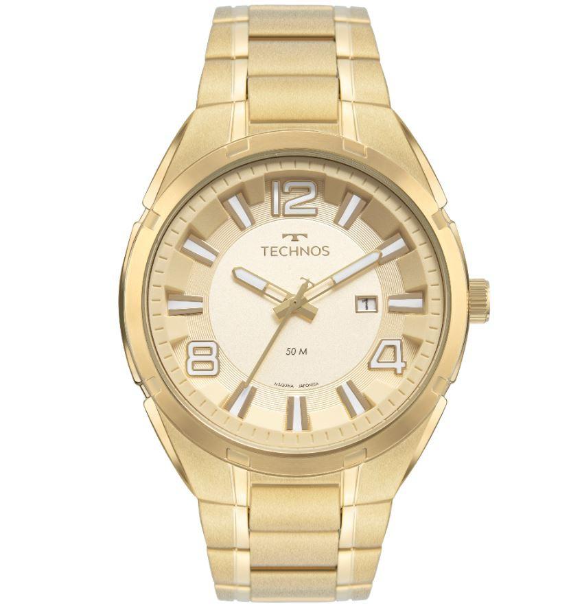 Relógio Technos Masculino Dourado 2117LDA/1X