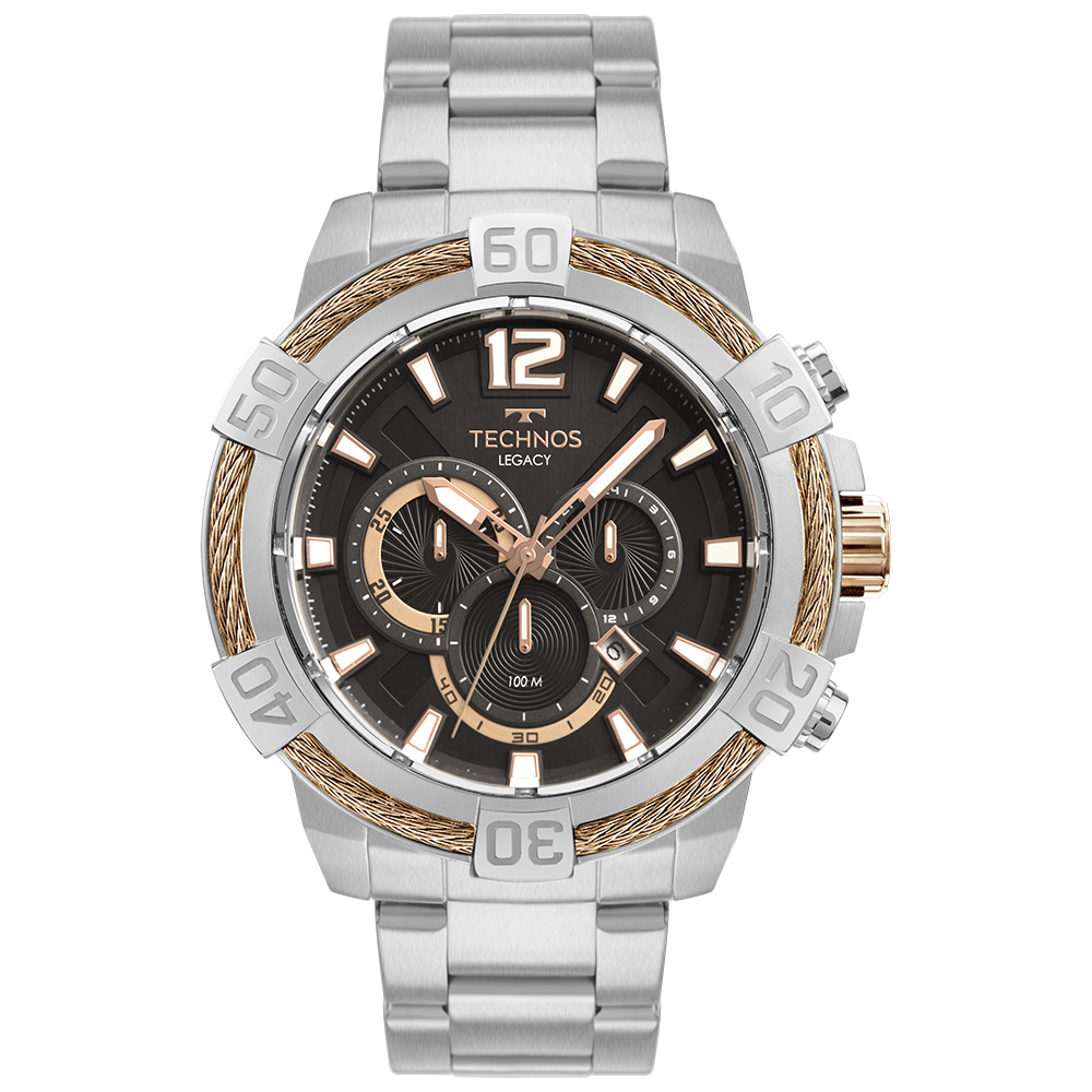 Relógio Technos Masculino Legacy Prata JS26AX/1F
