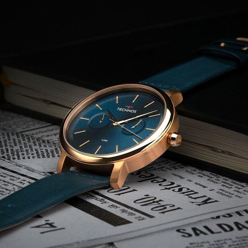 Relógio Technos Masculino + Presente Natura Essencial Oud Barba