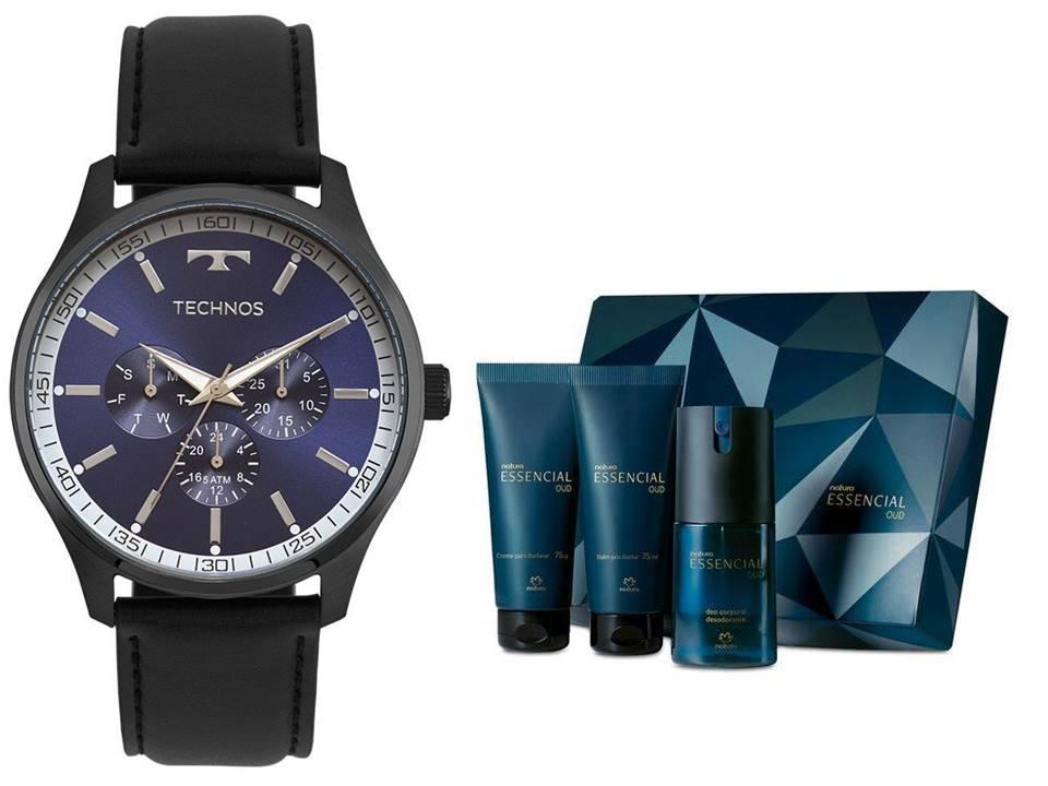 Relógio Technos Masculino 6P29AJP/2A + Presente Natura Essencial Oud Barba