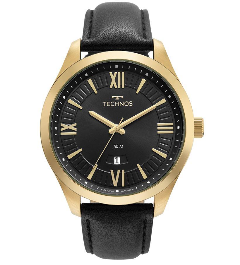 Relógio Technos Masculino Pulseira de Couro 2115MXV/0P