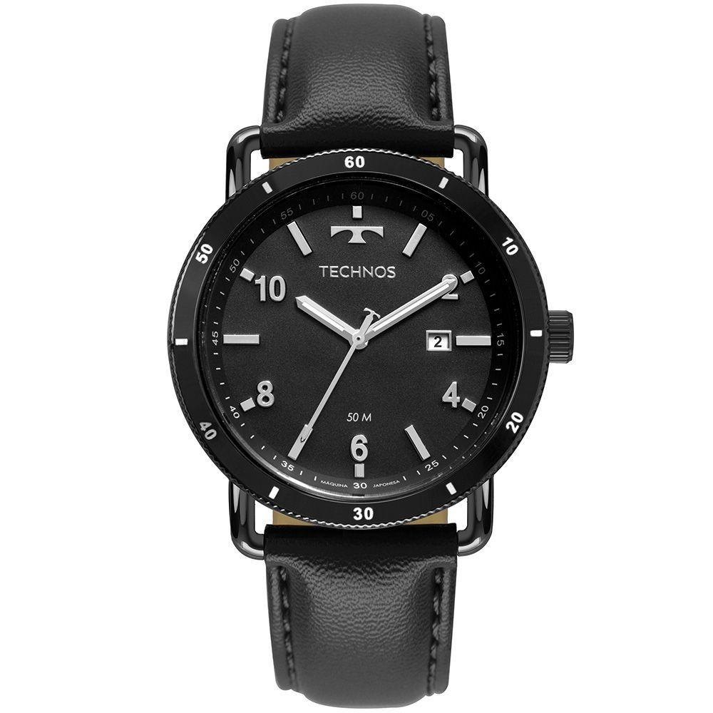 Relógio Masculino Technos Militar Couro 2115MUS/2P