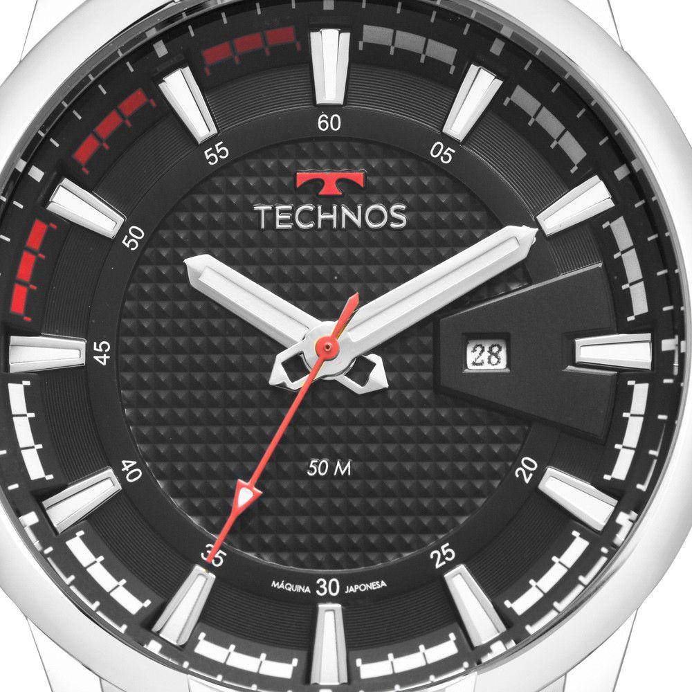 Relógio Technos Performance Racer Prata Masculino 2117LAY/1P