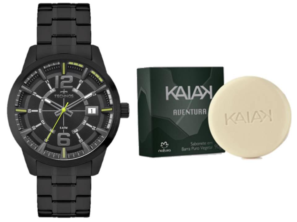 Relógio Technos Racer Masculino 2315KZV/4P + Sabonete Natura Kaiak Aventura