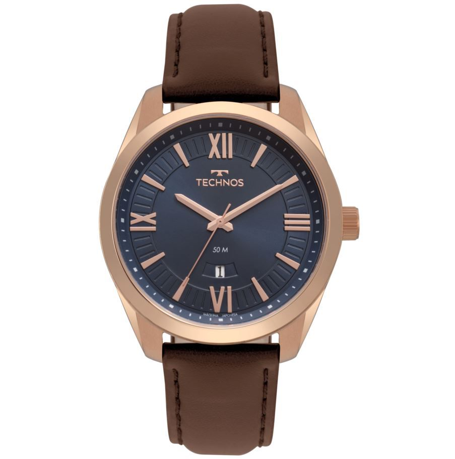 Relógio Technos Rose Couro Masculino 2115MSO/2A