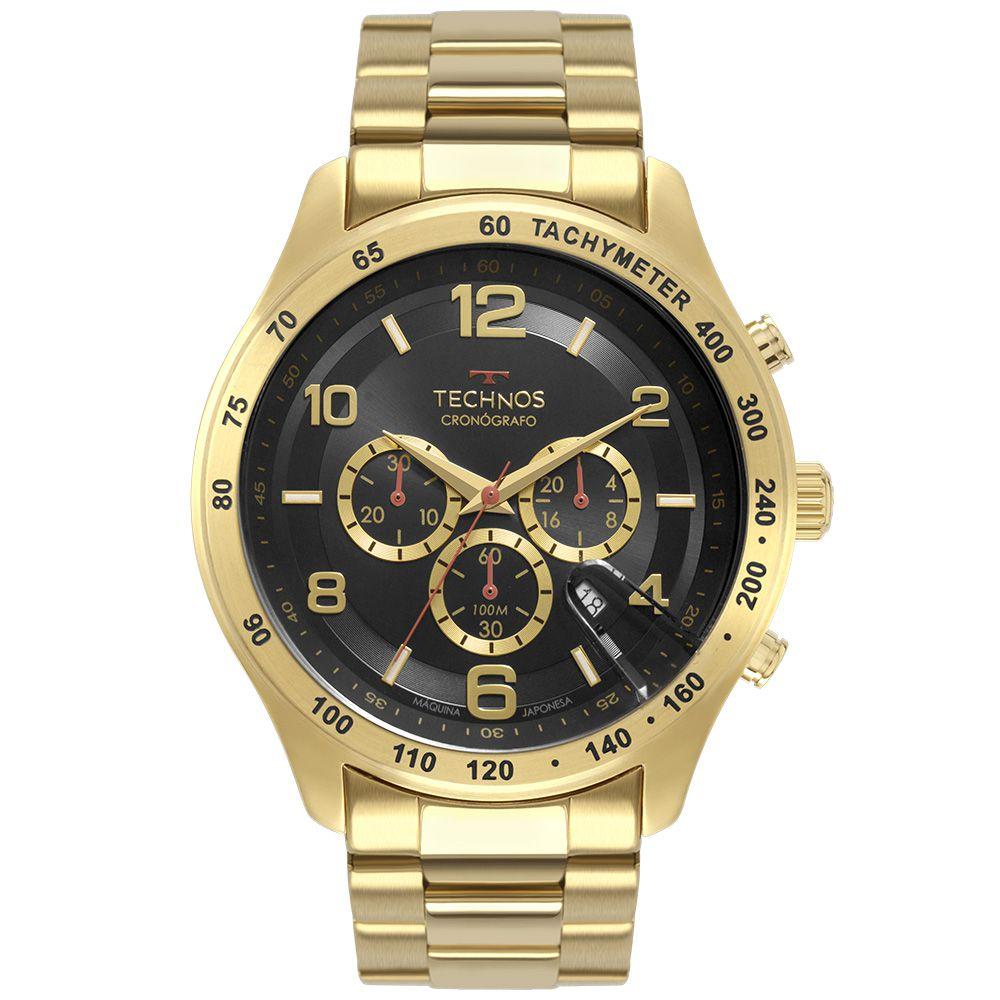 Relógio Technos Skymaster Dourado Masculino JS25CH/4P