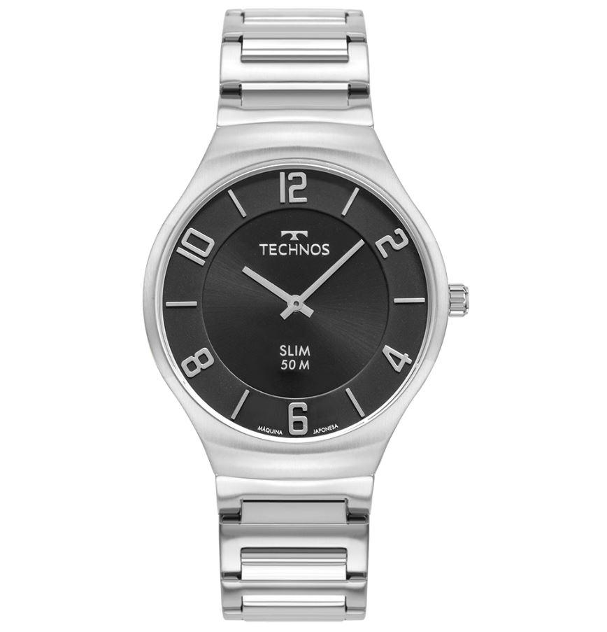 Relógio Technos Slim Prata 1L22WJ/1C