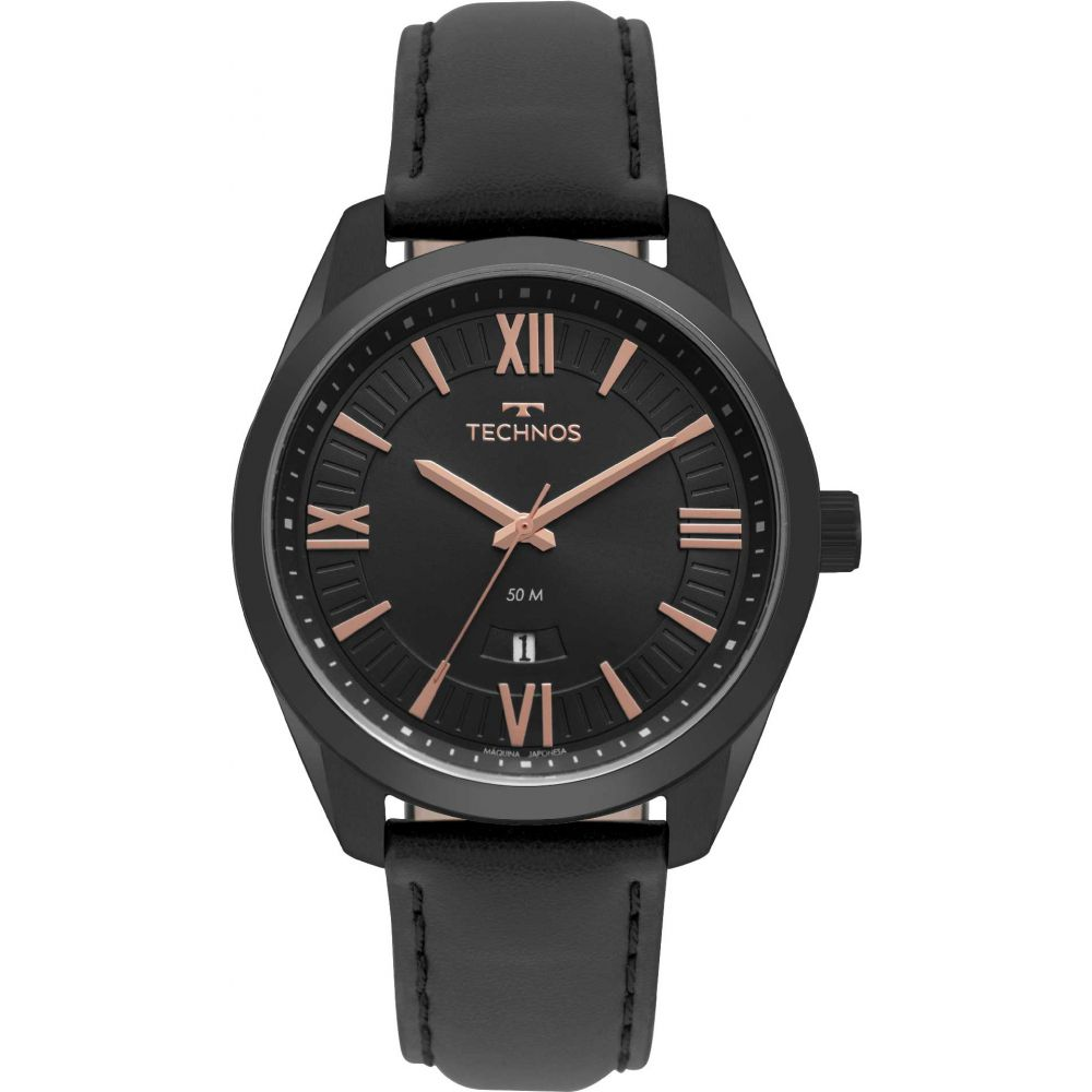Relógio Masculino Technos Steel Couro 2115MSP/4P