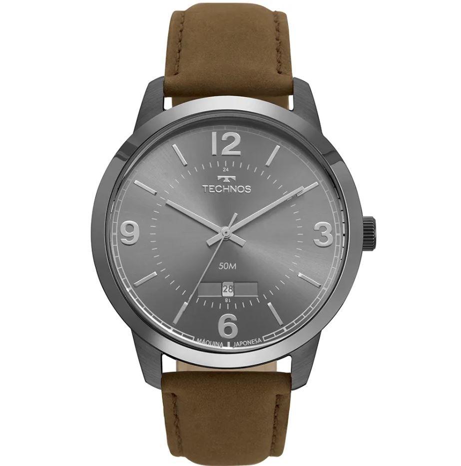Relógio Technos Steel Couro Masculino 2115MTE/2C