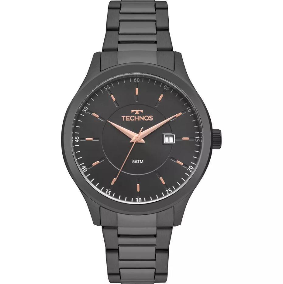 Relógio Technos Steel Grafite Masculino 2115MPQ/4A