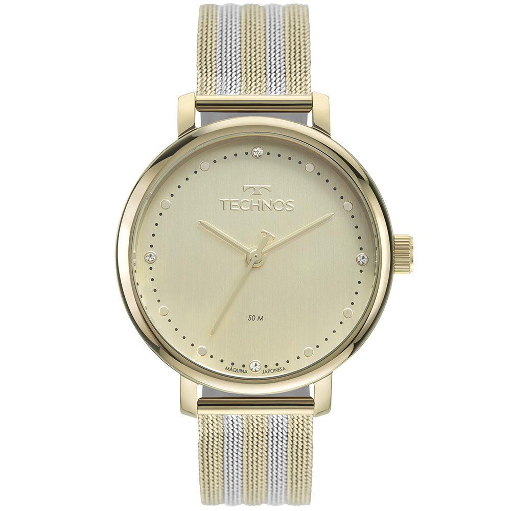Relógio Technos Style Dourado Feminino 2035MSW/1X