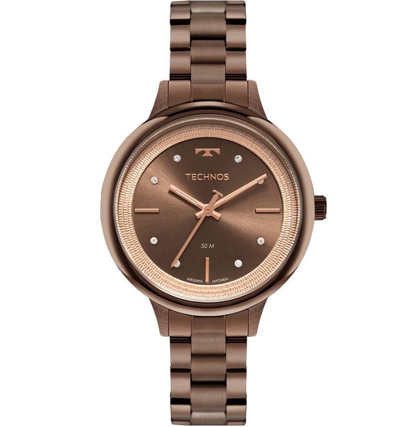 Relógio Feminino Technos Trend Marrom 2039DA/1M