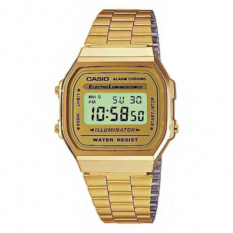 c10c00e77ec Relogio Unissex Casio Vintage Digital A168WG-9WDF - Relógios de Fábrica