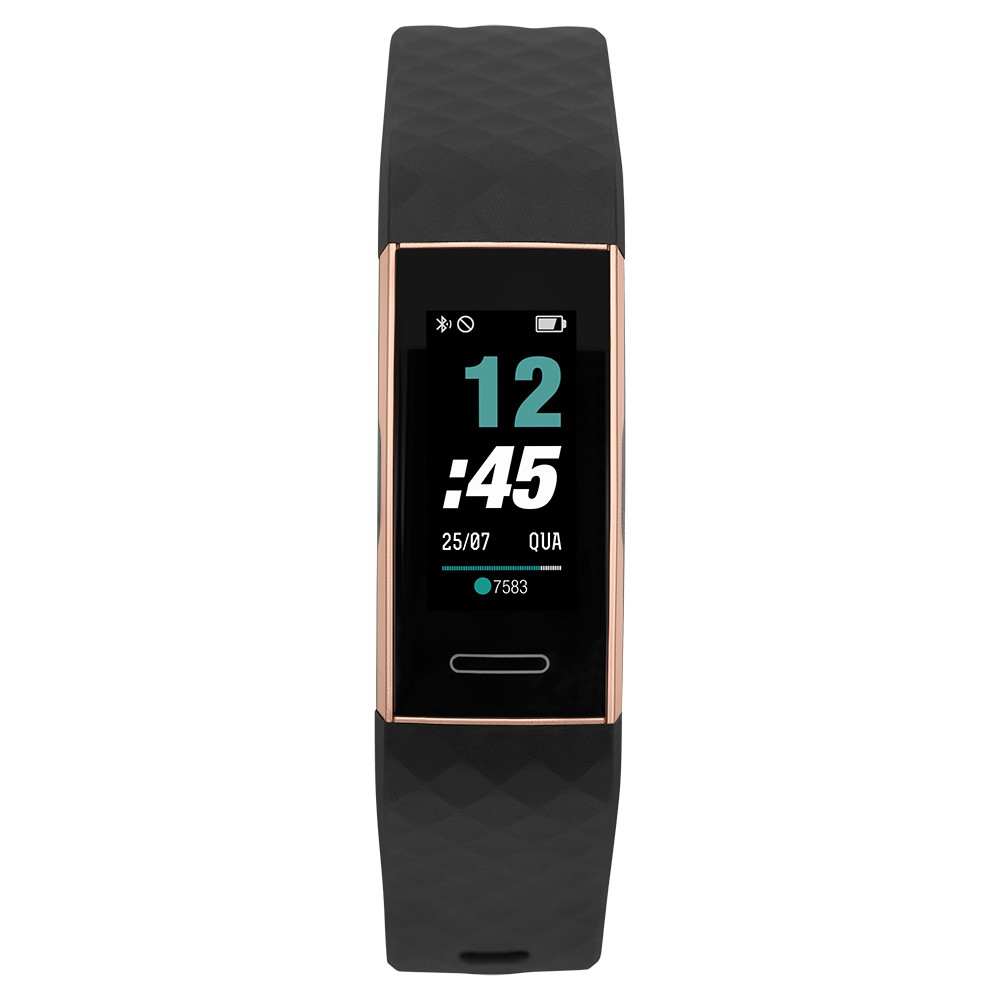 Smartwatch Mormaii Fit Sport Preto e Rose MOID151AB/8J