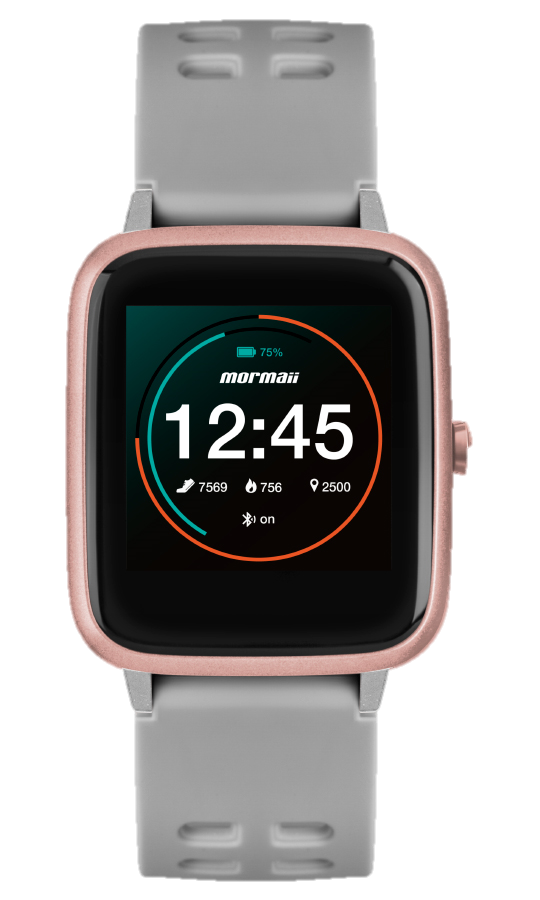 Smartwatch Mormaii Life Cinza MOLIFEAC/8K