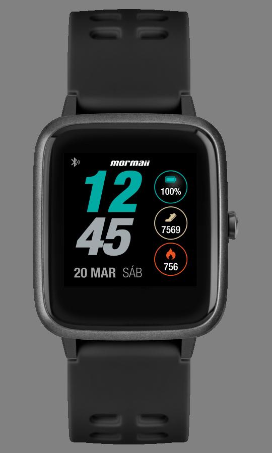 Smartwatch Mormaii Life Preto MOLIFEAB/8P