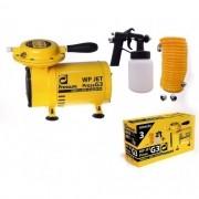 Motocompressor de Ar Direto 1/4HP Bivolt com Kit para Pintura - WP JET G3 PRESSURE-WPJETEU