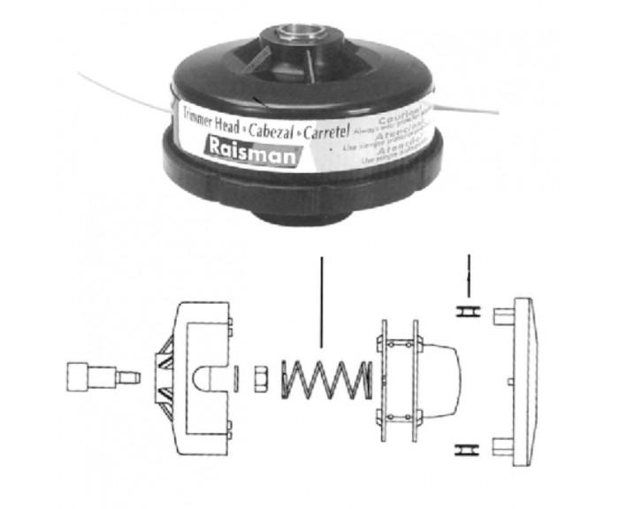 Carretel Nylon Standard Stihl Fs 160/220/290/280 Raismann