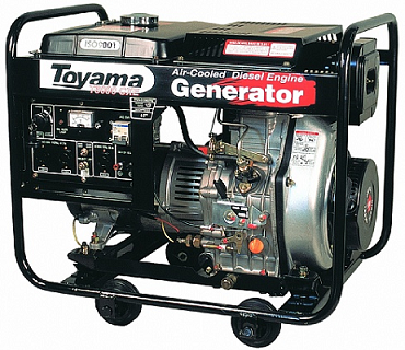 Gerador de energia a Diesel TD6000CX Toyama
