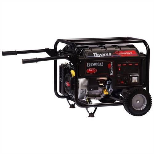 Gerador de Energia à Gasolina 4T 5.5 kva Bivolt com Partida Elétrica - TG6500CXE TOYAMA-311113