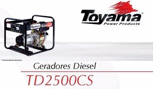 Gerador Portátil a Diesel Toyama TD-2500CS 110/220V