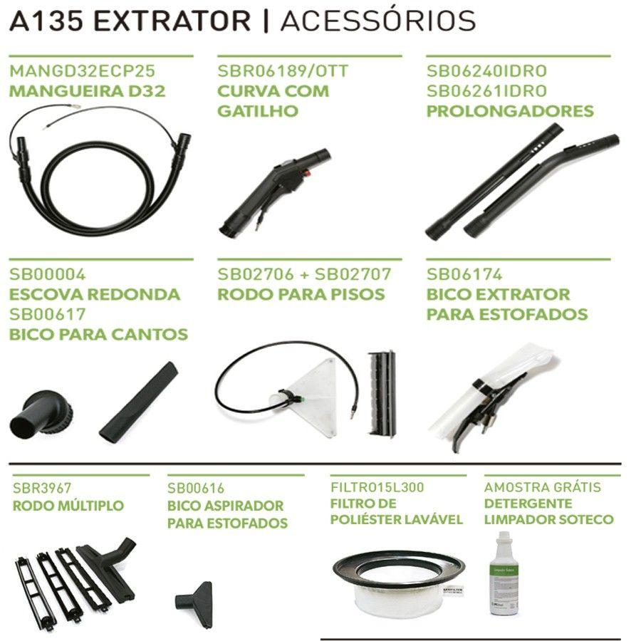Lavadora e Extratora 35L 1400W A135Ext Ipc Soteco - 220 V