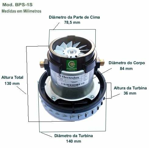 Motor Bps1s Aspirador Electrolux A10 127v (64300670)
