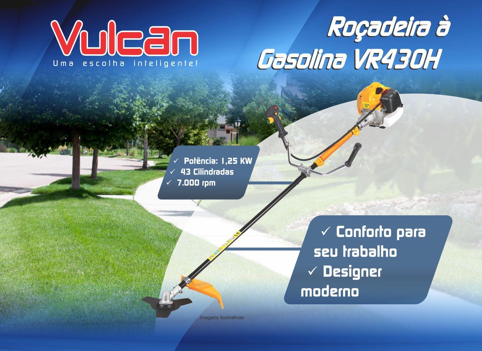 Roçadeira a Gasolina Vulcan VR430H – 42.7 CC