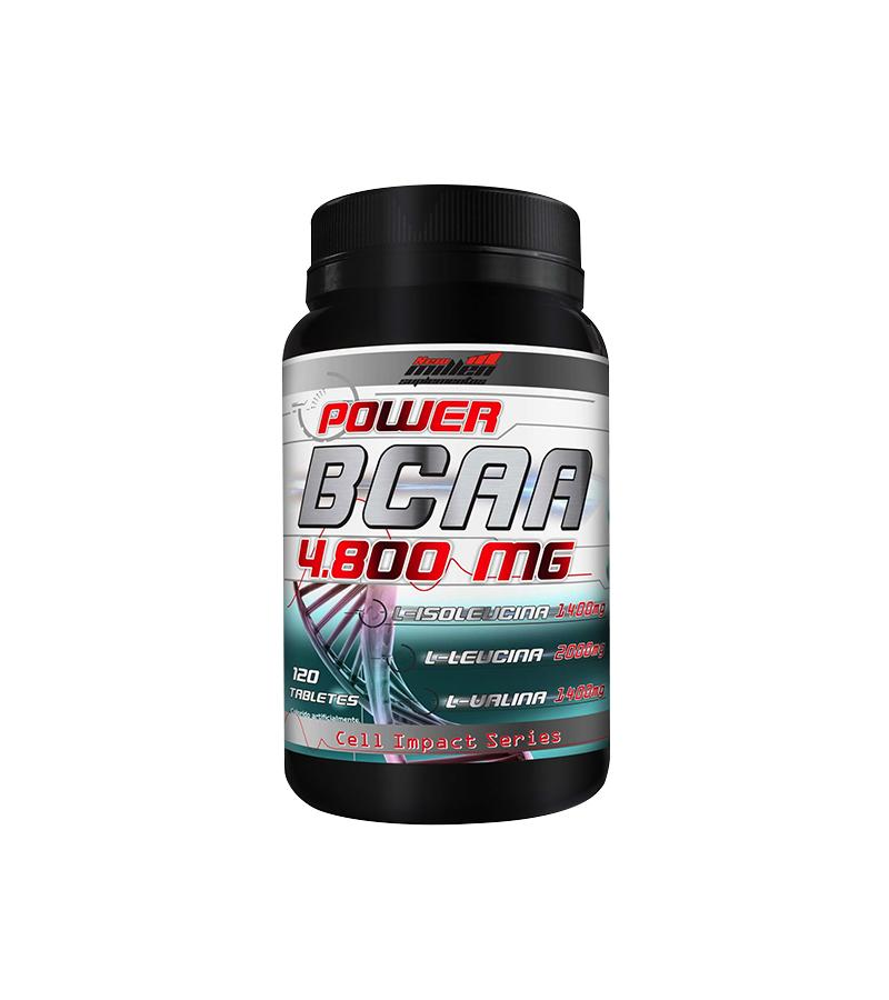 BCAA Power 4800mg 120 Tabletes New Millen - Clube do Fit