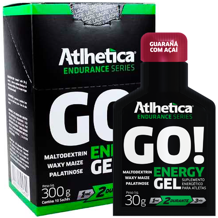 Go! Energy Gel (caixa c/ 10un de 30g) 300g - Atlhetica Nutrion