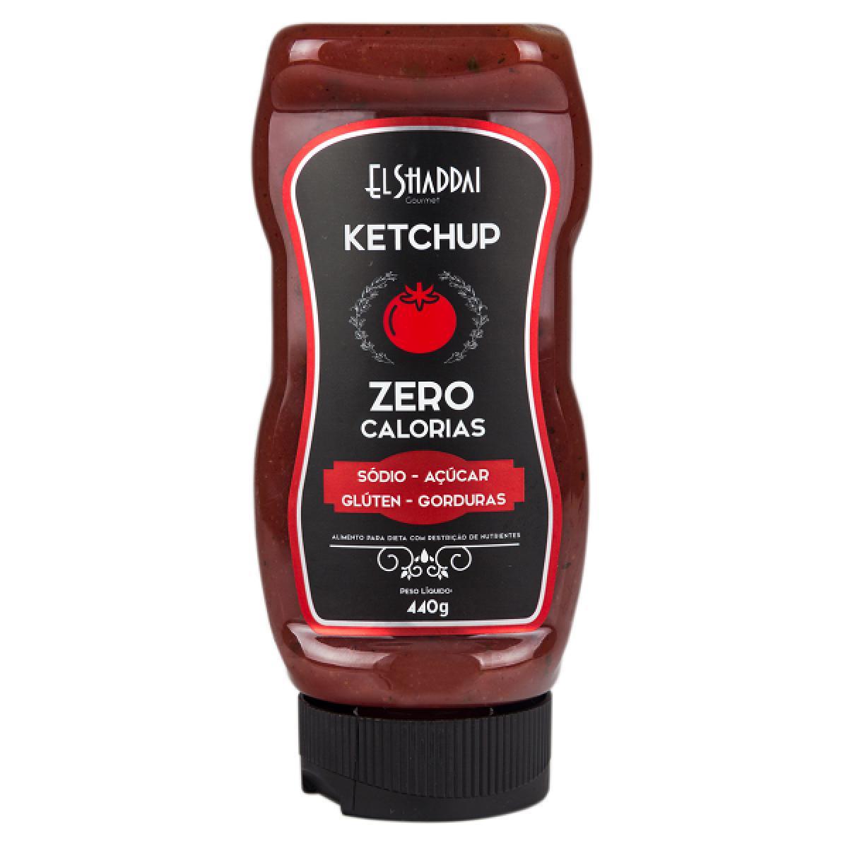 Ketchup Zero Calorias 440g El Shaddai - Clube do Fit