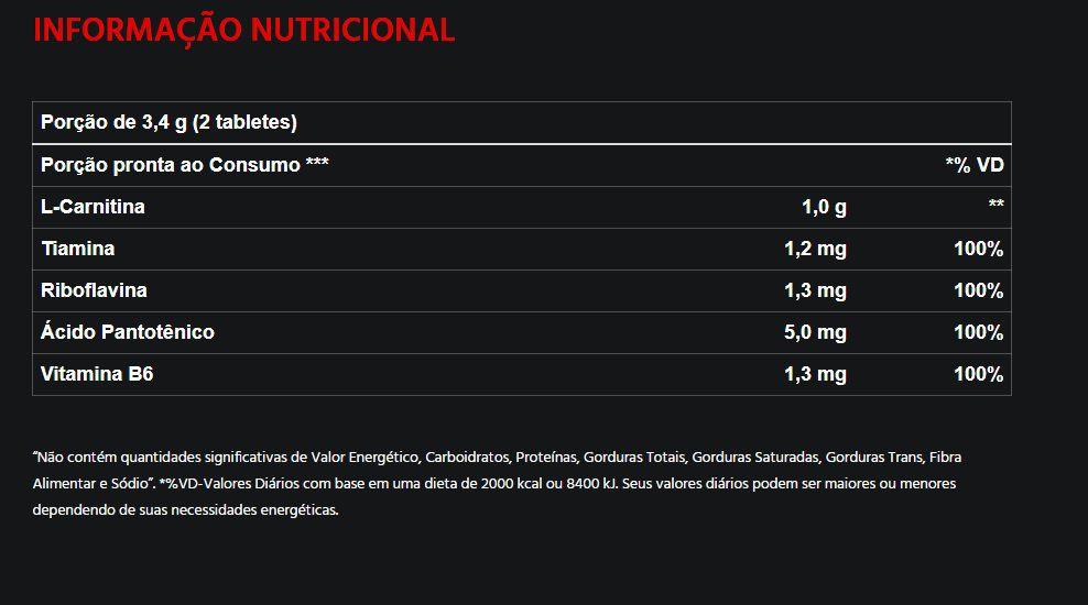 L Carnitina 1000 60 tabletes - Atlhetica Nutrition