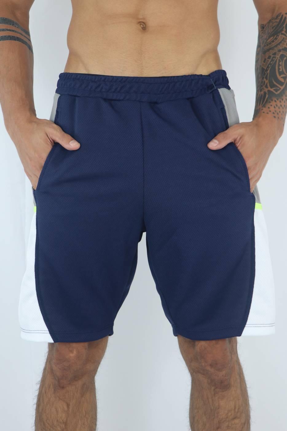 Shorts masculino dry fit Rush (marinho) - KVRA