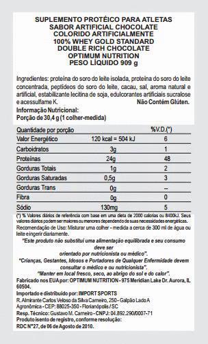 Whey Protein 100% Gold Standard 2,3kg - Optimum Nutrition